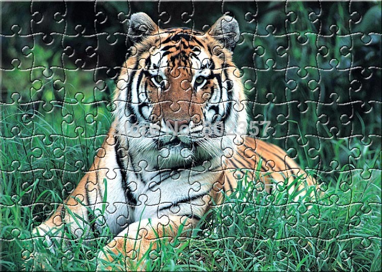 A3 96pieces Manchurian Tiger Paper Jigsaw Puzzles For